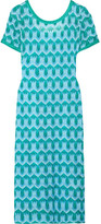 Missoni Metallic Crochet-knit Midi Dress - Turquoise