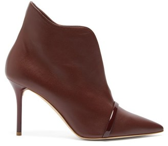 Malone Souliers Cora Leather Ankle Boots - Womens - Dark Brown