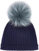 Yves Salomon Woollen hat with a fur bobble