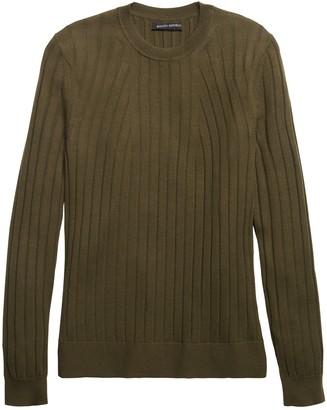 Banana Republic Washable Merino Ribbed Sweater