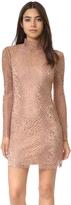 Alexander Wang Mock Neck Lace Mini Dress