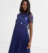 Asos DESIGN Maternity embellished crop top midi skater dress
