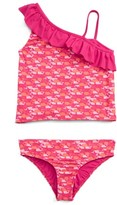 Vineyard Vines Girl's Whale Outline Two-Piece Tankini Swimsuit