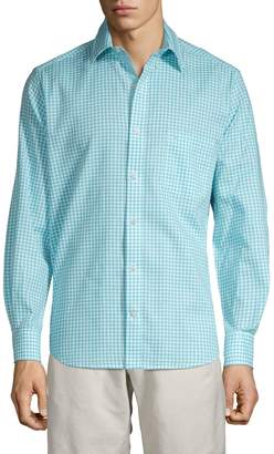Tailorbyrd Gingham Button-Down Shirt