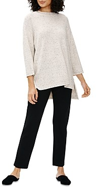 Eileen Fisher Dotted Crewneck Tunic Top