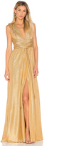 Halston V Neck Gown