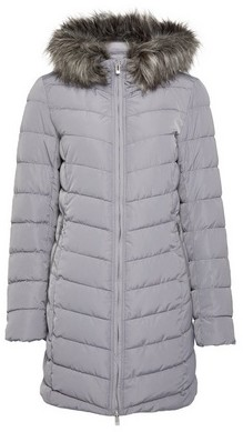 Dorothy Perkins Womens Only Grey Quiled Coat, Grey