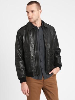 Banana Republic Heritage Leather Aviator Jacket