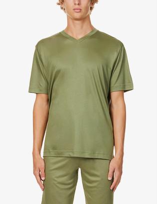 Zimmerli V-neck stretch-jersey pyjama set