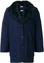 P.A.R.O.S.H. Cappotto coat - women - Fox Fur/Polyester/Wool - XS