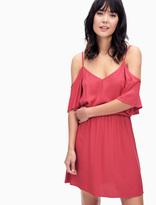 Splendid Rayon Crosshatch Cold Shoulder Dress