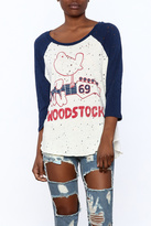 Lauren Moshi Destroyed Baseball Tee