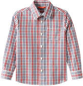 Joe Fresh Kid Boys' Check Shirt, Dark Red (Size L)