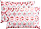 Diamond Daisy Pillowcases, Set of 2, Warm Multi