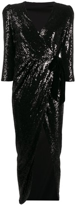 Alchemy Sequin Embroidered Side Slit Dress