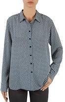 Gerard Darel Brian Kaleidoscopic-Print Silk Shirt