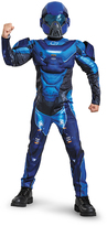Disguise Halo Blue Spartan Classic Muscle Dress-Up Set - Kids