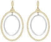 Swarovski Gilberte Pav Double-Hoop Drop Statement Earrings