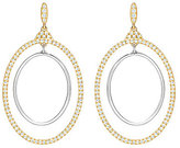 Swarovski Gilberte Pave Double-Hoop Drop Earrings