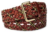 Mossimo Women's Wide Braid Belt Brown
