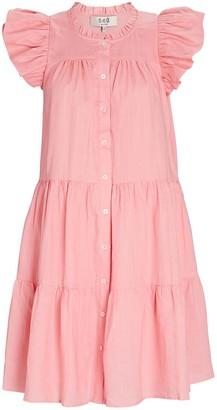 Sea Shannon Scalloped Shirt Dress