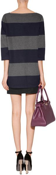 Sonia Rykiel Knit Pullover in Marine Fonce/Gris