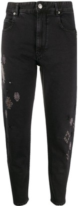 Etoile Isabel Marant Embroidered Straight-Leg Jeans