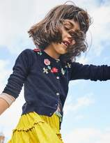 Boden Crochet Floral Cardigan