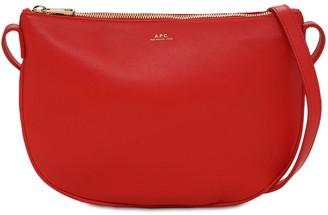 A.P.C. Sac Maelys Saffiano Leather Bag