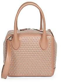 Alaia Women's Small Elba Grommet-Detailed Leather Handbag