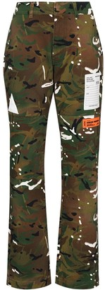 Heron Preston Camouflage Straight Leg Trousers