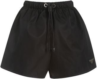 Prada Logo-Detailed Nylon Gabardine Shorts