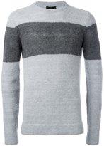 Emporio Armani colour block jumper