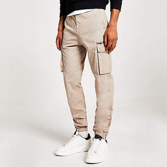 River Island Stone cargo trousers