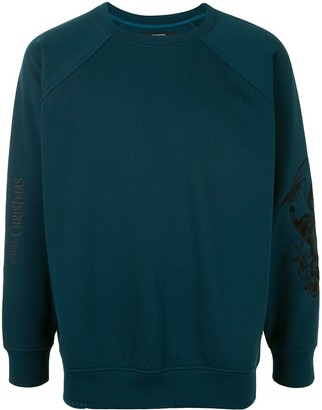 Songzio Embroidered Sleeve Crewneck Sweatshirt