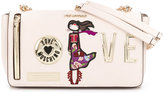 Love Moschino chained patches shoulder bag - women - Polyurethane - One Size