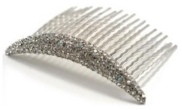 Soho Style Curved Crystal Hair Comb