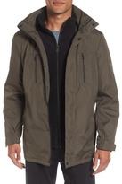 Kenneth Cole New York Hooded Jacket with Inset Fleece Bib