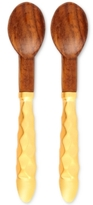 Thirstystone Set of 2 Wood Spoons with Gold-Tone Handles