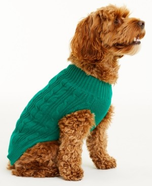 Charter Club Cable Pet Sweater, Created for Macy's