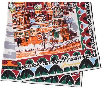 Prada Pittoresque Moscow printed foulard