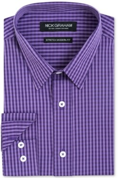 Nick Graham Men's Slim-Fit Gingham Shirt