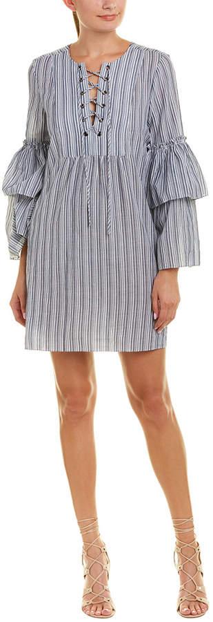 BCBGMAXAZRIA Lace-Up Shift Dress