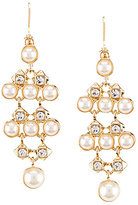Anne Klein Faux-Pearl & Crystal Chandelier Earrings