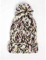 Dorothy Perkins Womens Multi Coloured Knitted Beanie Hat- Black
