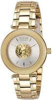 Versus By Versace Versus Versace Women's 'BRICK LANE' Quartz Stainless Steel Casual Watch, Color:Gold-Toned (Model: S64050016)