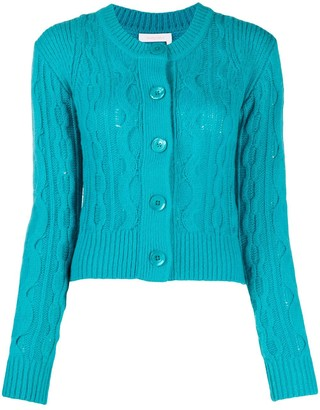 See by Chloe Cable-Knit Fitted Cardigan