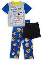 AME Sleepwear Boys Three-Piece To Do List Pajama Set