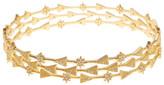 Freida Rothman 14K Gold Plated Sterling Silver CZ Arrow Bracelet Set