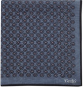 Drakes Four Shell Pattern Cotton-silk Pocket Square